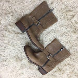 Seychelles Tan Zipper Slip On Ankle Boots Shoes